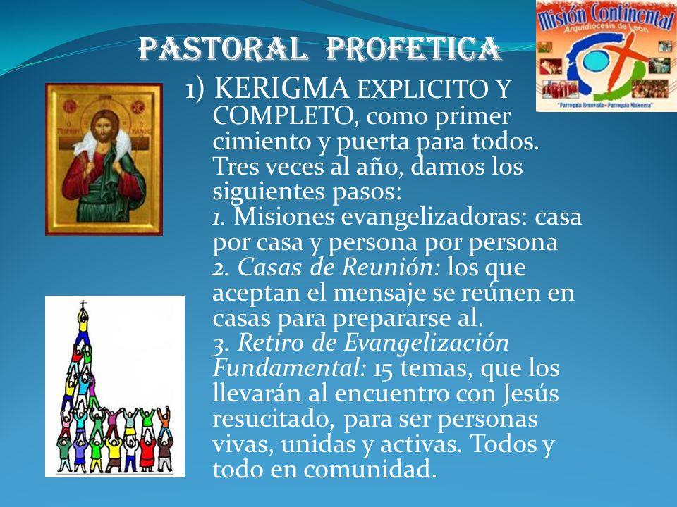 6) Lo que tenemos y lo que hacemos: Pastoral profética Pastoral Litúrgica Pastoral social Grupos y movimientos