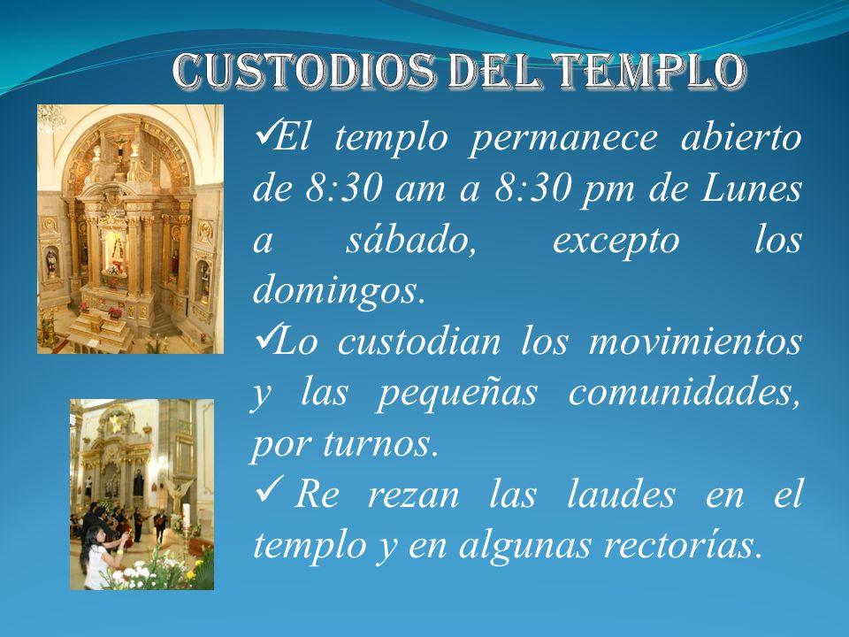 1)En todas hay equipo de liturgia, con su formación permanente. 2)Ministros extraordinarios de la Sagrada Comunión. 3). 1)Hay esfuerzo porque las cele