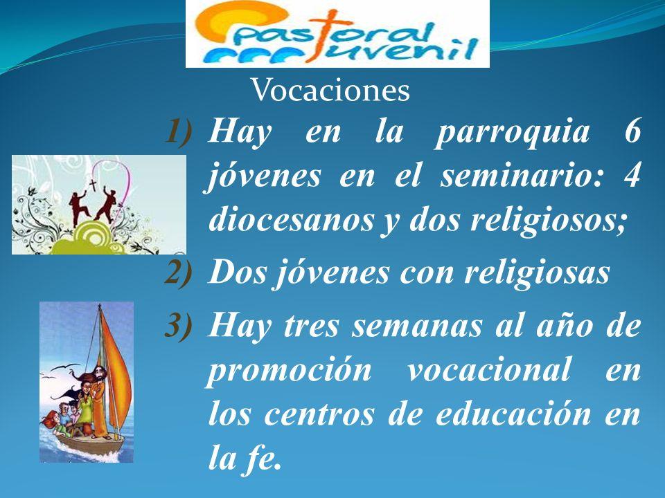 PASTORAL FAMILIAR 1) Hay 20 matrimonios en pequeña comunidad. 2) Grupo de madres jóvenes (12 madres). 3) La formación pre-sacramental a Padres y padri