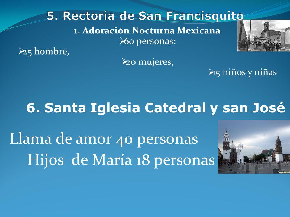 Liturgia 30 personas Coro de Niños (10) Monaguillos 32 1) Apostolado de la Cruz: Tres grupos, 50 personas 2) CEC, 3) KEPD, 30 personas 3. Rectoría Nue