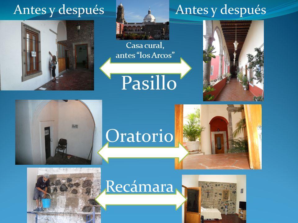 Antes y después Templo Parroquial