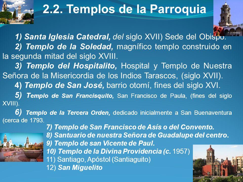 2. TEMPLOS, LÍMITES Y FAMILIAS 2.1. Límites AL NORTE, limita con la Parroquia de Nuestra Señora de los Dolores, con la calle Bolívar; AL SUR con Alma