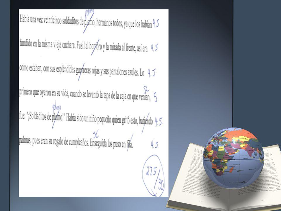 Assessment for Fluency and Intonation El general del establo y yo comenzamos la lección del día lentamente.