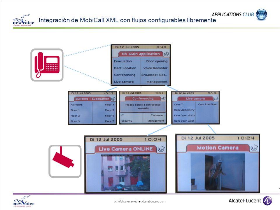 All Rights Reserved © Alcatel-Lucent 2011 Integración de MobiCall XML con flujos configurables libremente