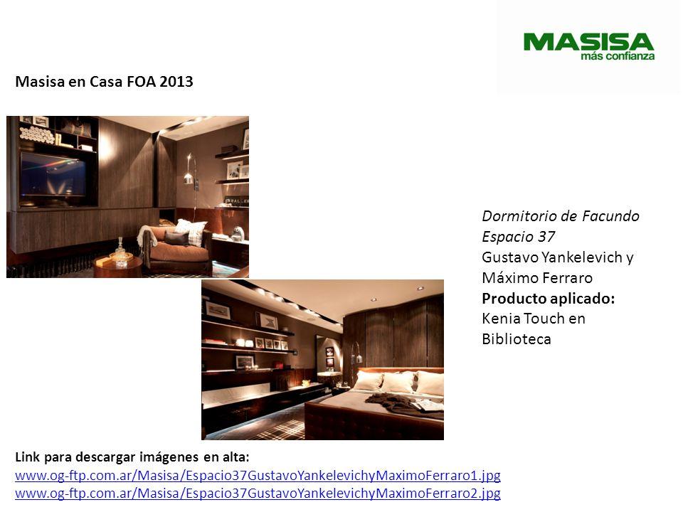 Masisa en Casa FOA 2013 Dormitorio de Facundo Espacio 37 Gustavo Yankelevich y Máximo Ferraro Producto aplicado: Kenia Touch en Biblioteca Link para d
