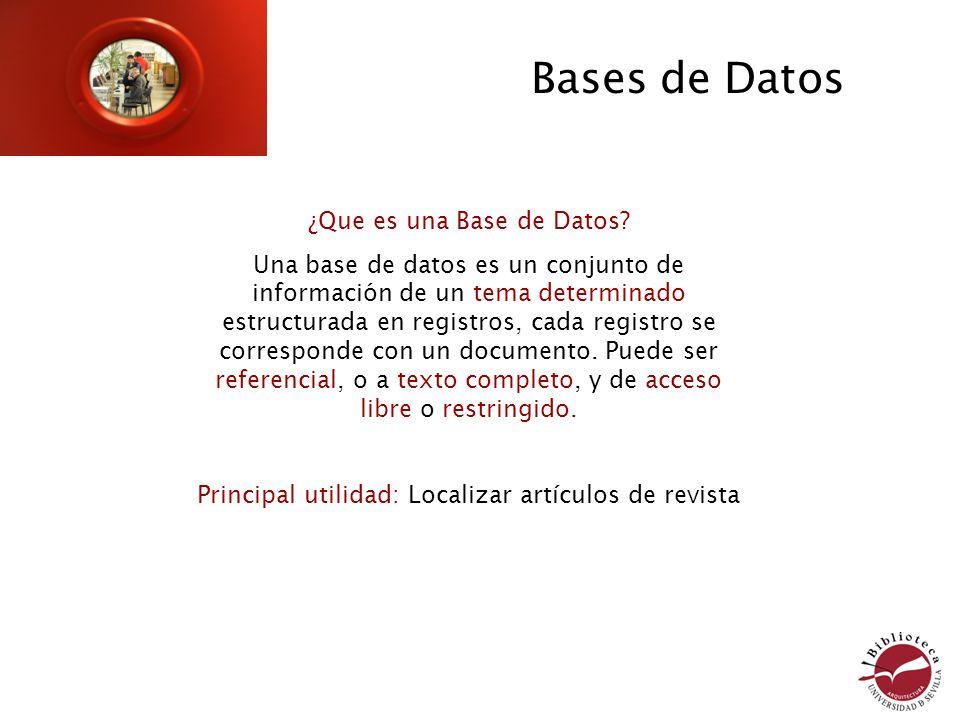 ¿Que es una Base de Datos? Una base de datos es un conjunto de información de un tema determinado estructurada en registros, cada registro se correspo