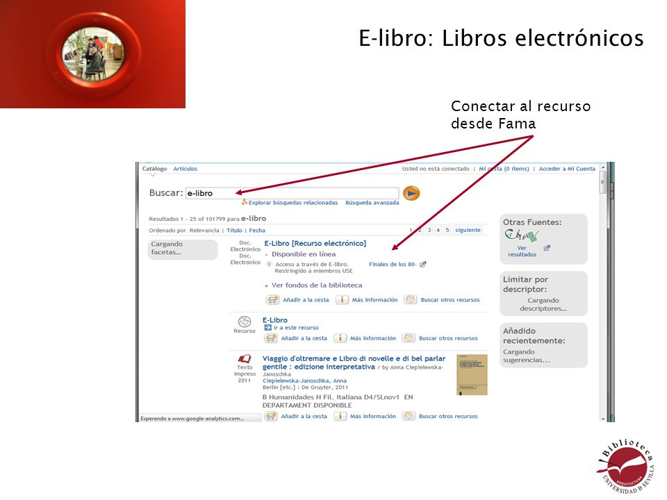 Visualizo el libro Añadir términos de búsqueda Podemos elegir Búsqueda avanzada E-libro: libros electrónicos