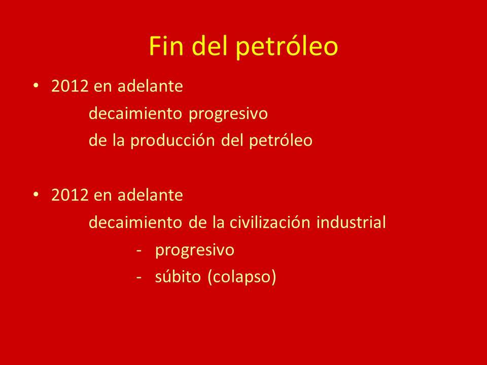 Fin del petróleo 2012 en adelante decaimiento progresivo de la producción del petróleo 2012 en adelante decaimiento de la civilización industrial - pr