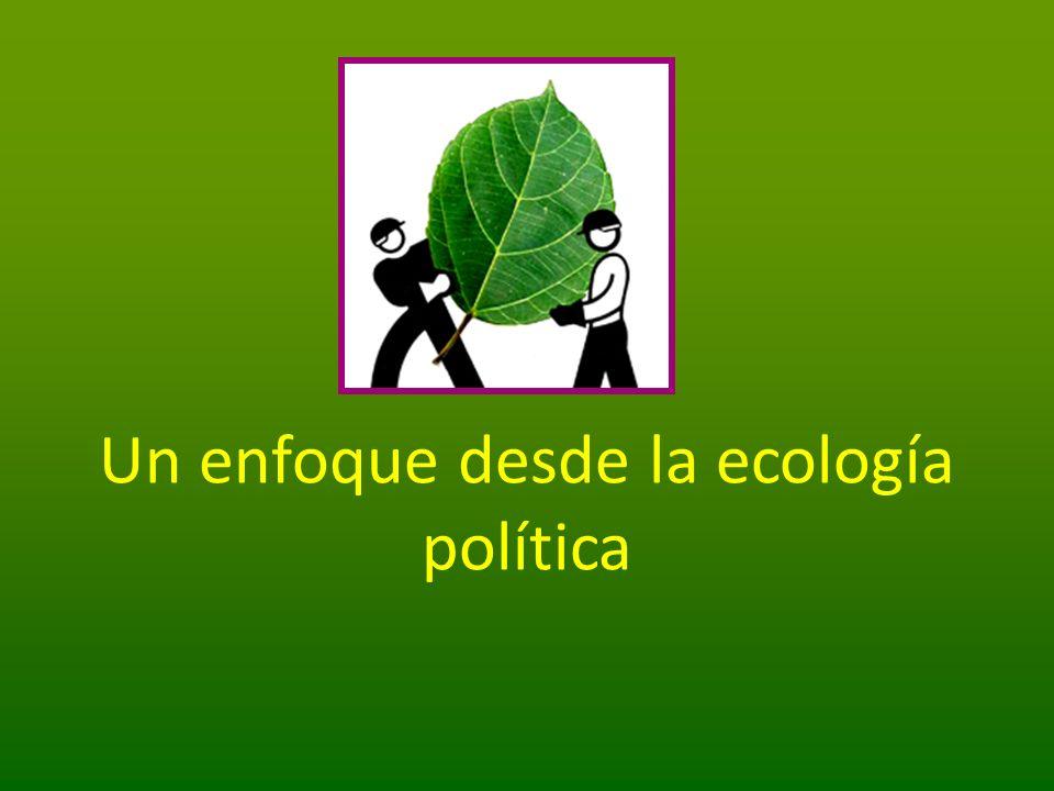 Un enfoque desde la ecología política