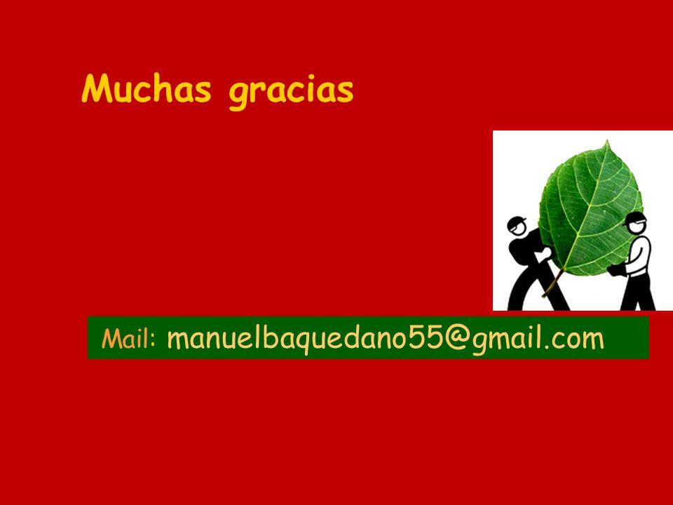 Muchas gracias Mail: manuelbaquedano55@gmail.com