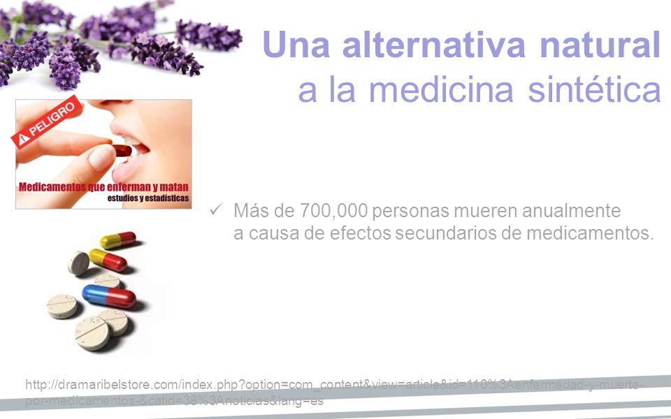 Una alternativa natural a la medicina sintética Más de 700,000 personas mueren anualmente a causa de efectos secundarios de medicamentos. http://drama