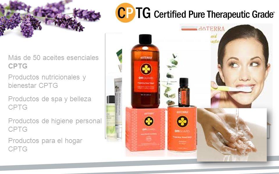 Más de 50 aceites esenciales CPTG Productos nutricionales y bienestar CPTG Productos de spa y belleza CPTG Productos de higiene personal CPTG Producto