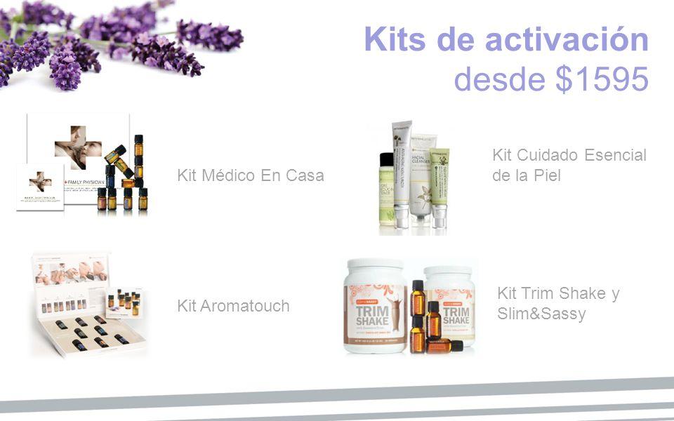 Kits de activación desde $1595 Kit Médico En Casa Kit Aromatouch Kit Cuidado Esencial de la Piel Kit Trim Shake y Slim&Sassy