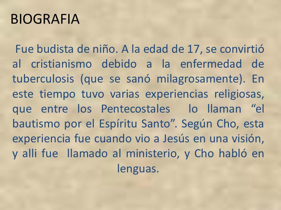 BIOGRAFIA Fue budista de niño. A la edad de 17, se convirtió al cristianismo debido a la enfermedad de tuberculosis (que se sanó milagrosamente). En e