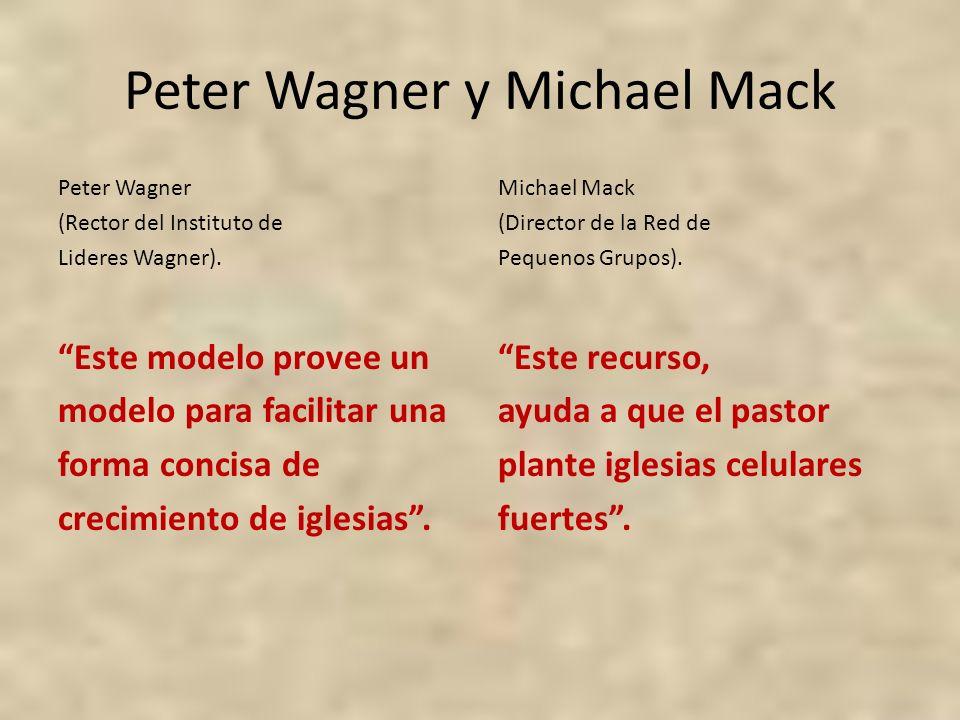Peter Wagner y Michael Mack Peter Wagner (Rector del Instituto de Lideres Wagner). Este modelo provee un modelo para facilitar una forma concisa de cr