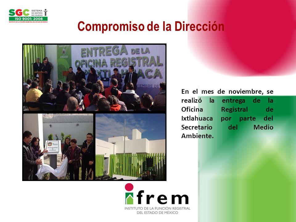 IFREMNombre del ProcesoProyectos de MejoraSEGUIMIENTO (%) Dirección de Control y supervisión Expedición de Certificaciones e Información de Actos Registrales.