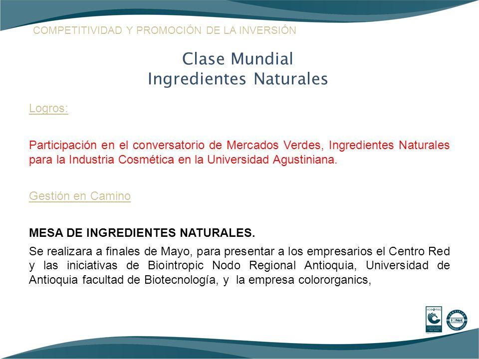 Logros: Participación en el conversatorio de Mercados Verdes, Ingredientes Naturales para la Industria Cosmética en la Universidad Agustiniana. Gestió