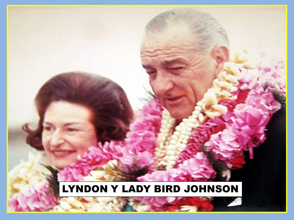 LYNDON Y LADY BIRD JOHNSON