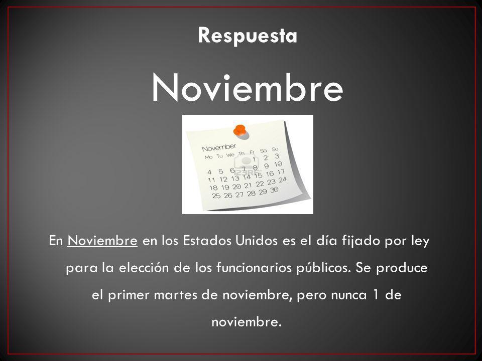En Noviembre en los Estados Unidos es el día fijado por ley para la elección de los funcionarios públicos. Se produce el primer martes de noviembre, p