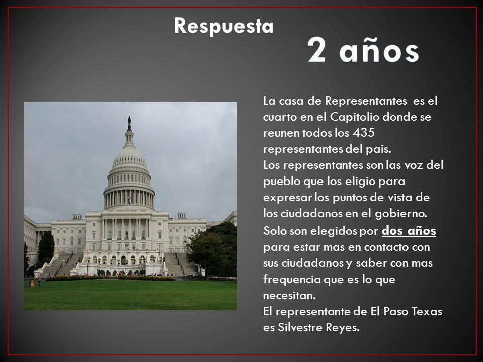 La casa de Representantes es el cuarto en el Capitolio donde se reunen todos los 435 representantes del pais. Los representantes son las voz del puebl
