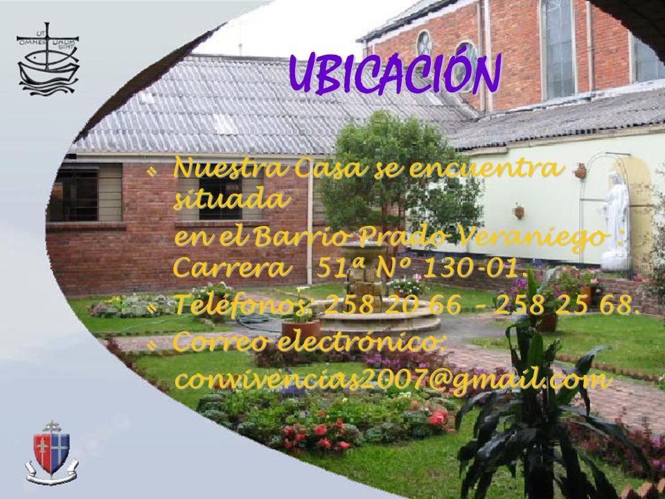 Nuestra Casa se encuentra situada Nuestra Casa se encuentra situada en el Barrio Prado Veraniego : Carrera 51ª Nº 130-01. en el Barrio Prado Veraniego