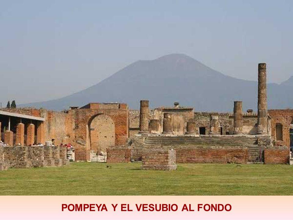 La ciudad de Pompeya fue una ciudad de la Antigua Roma ubicada en la región de Campania ( cerca de la ciudad de Nápoles). Fue sepultada por una erupci