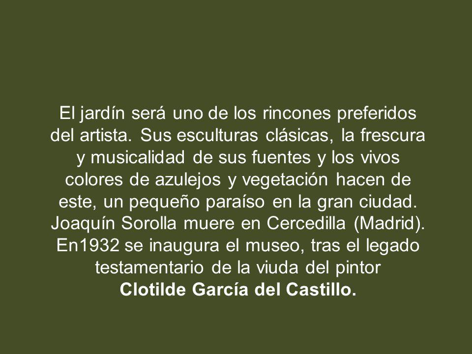En 1863 nace el pintor Joaquín Sorolla Bastida en Valencia. Inicia sus estudios de pintura en su ciudad. En 1900 se instala en Madrid. En 1910 comienz