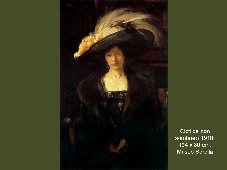 Clotilde con sombrero 1910. 124 x 80 cm. Museo Sorolla
