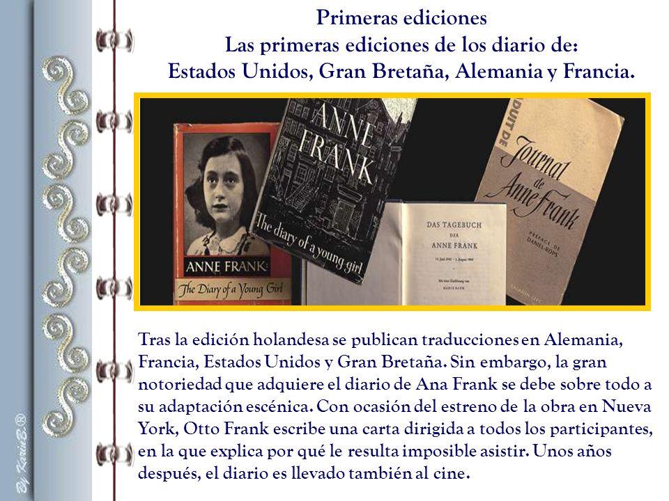 Otto Frank comienza a leer el diario de su hija.