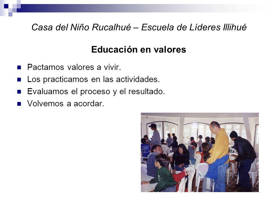 Casa del Niño Rucalhué – Escuela de Líderes Illihué Educación en valores Pactamos valores a vivir.