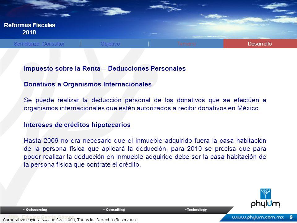 Corporativo Phylum S.A. de C.V. 2009, Todos los Derechos Reservados Mtro.
