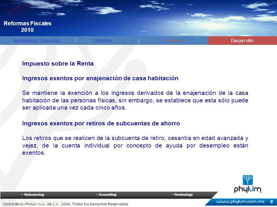 Corporativo Phylum S.A.de C.V. 2009, Todos los Derechos Reservados Mtro.