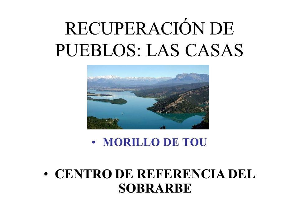 RECUPERACIÓN DE PUEBLOS: LAS CASAS MORILLO DE TOU CENTRO DE REFERENCIA DEL SOBRARBE