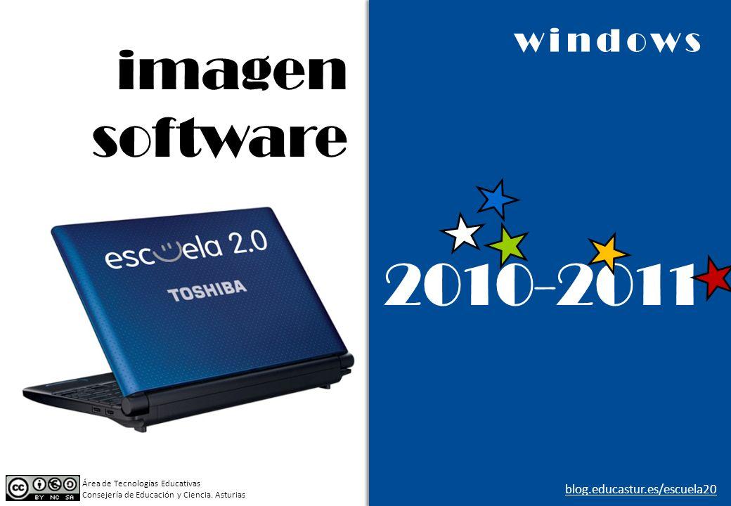 imagen software 2010-2011 windows Área de Tecnologías Educativas Consejería de Educación y Ciencia. Asturias blog.educastur.es/escuela20