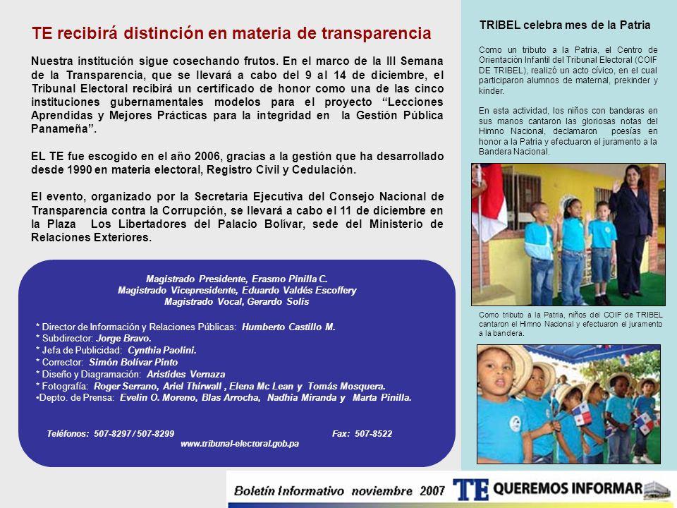 * Director de Información y Relaciones Públicas: Humberto Castillo M. * Subdirector: Jorge Bravo. * Jefa de Publicidad: Cynthia Paolini. * Corrector: