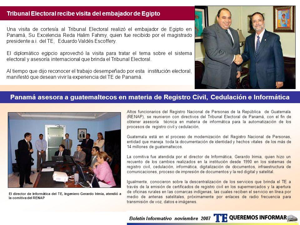Altos funcionarios del Registro Nacional de Personas de la República de Guatemala (RENAP), se reunieron con directivos del Tribunal Electoral de Panam