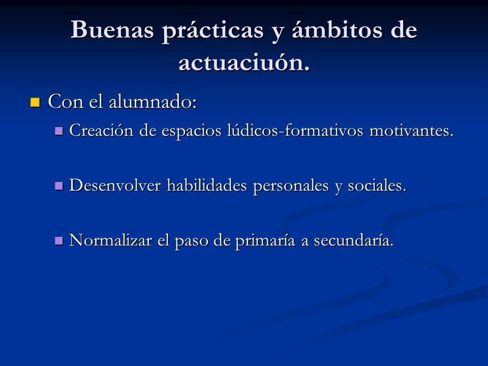 Buenas prácticas y ámbitos de actuaciuón.