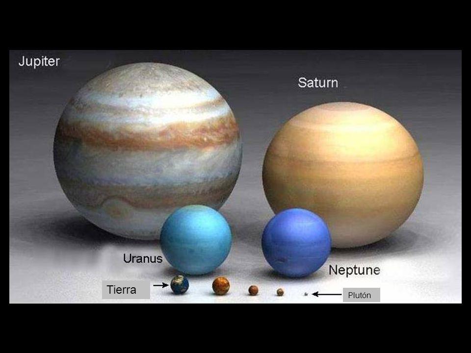 Tierra Plutón Marte Mercurio