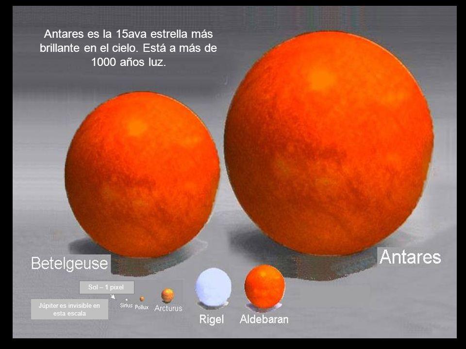 Sol Sirio Arturo Júpiter tiene 1 pixel La Tierra no es visible en esta escala