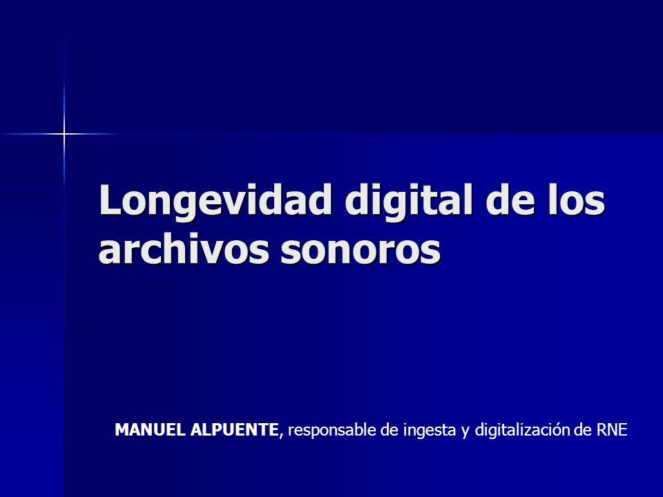 MANUEL ALPUENTE, responsable de ingesta y digitalización de RNE Longevidad digital de los archivos sonoros
