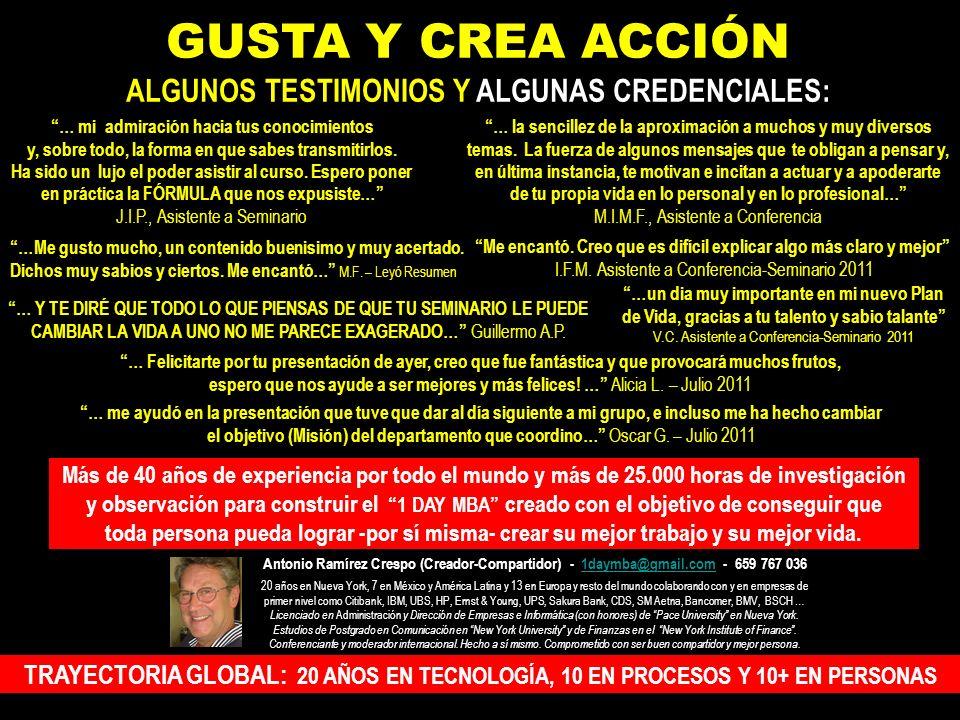 Dr. C.A.A (Jefe de M.J.R.R.) – Asturias, Junio 2011 … Es algo excepcional, (y debería escribir excepcional con mayúsculas), que un orador mantenga ata