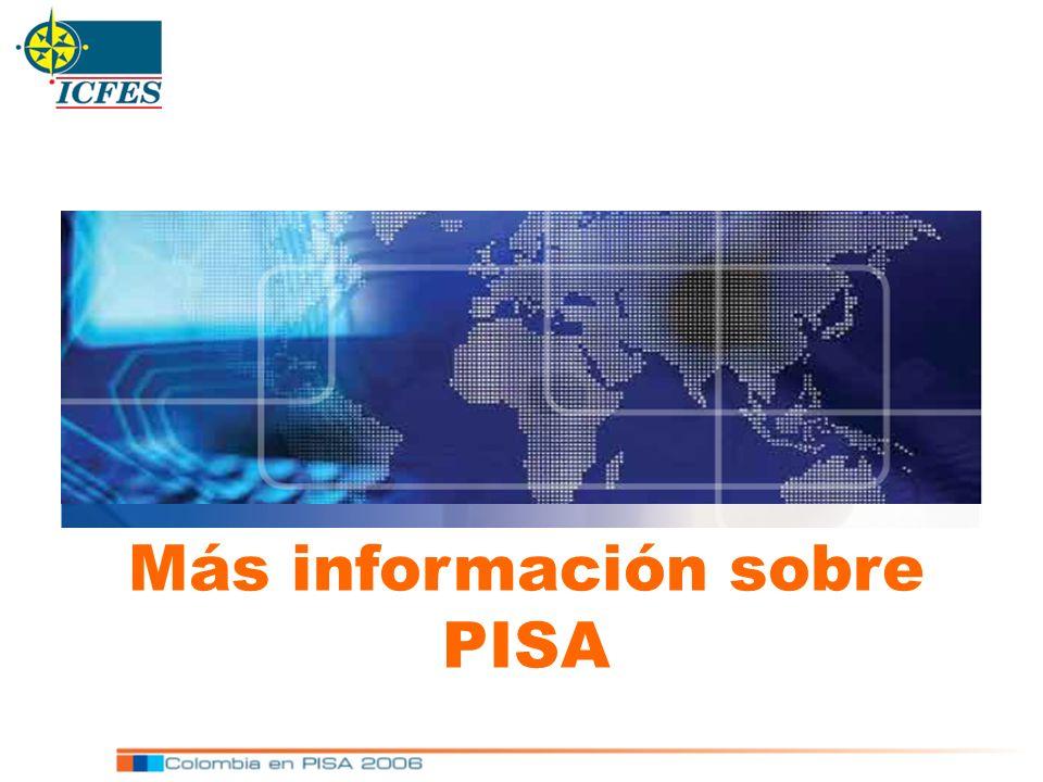 Más información sobre PISA