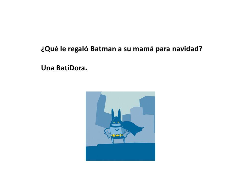 ¿Qué le regaló Batman a su mamá para navidad? Una BatiDora.