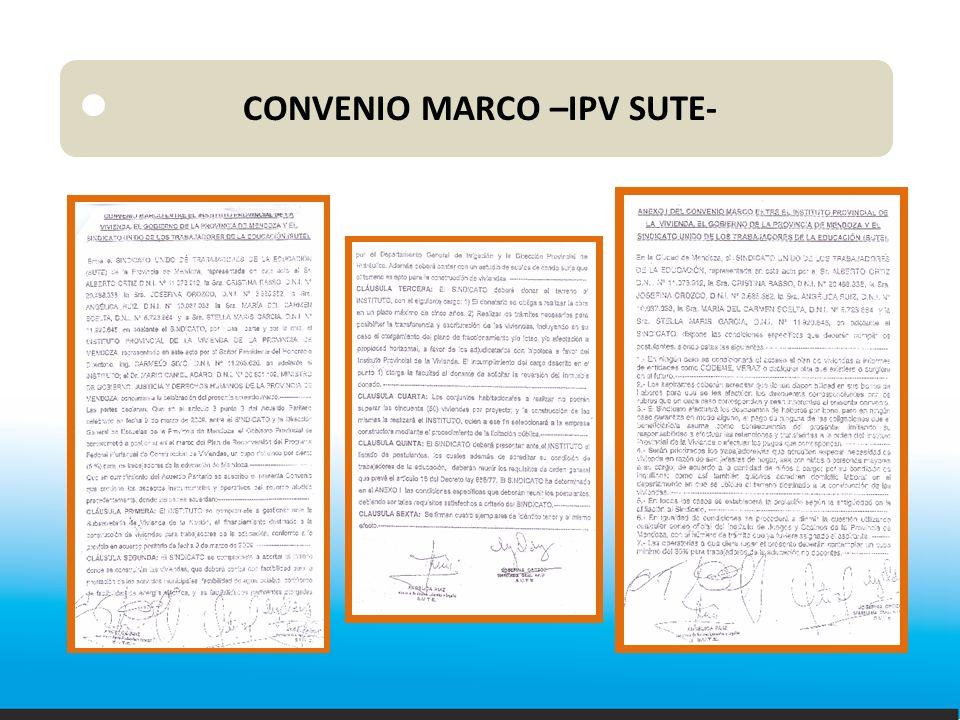 CONVENIO MARCO –IPV SUTE-