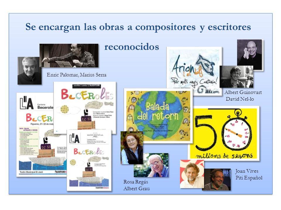 Se encargan las obras a compositores y escritores reconocidos Se encargan las obras a compositores y escritores reconocidos Rosa Regás Albert Grau Alb