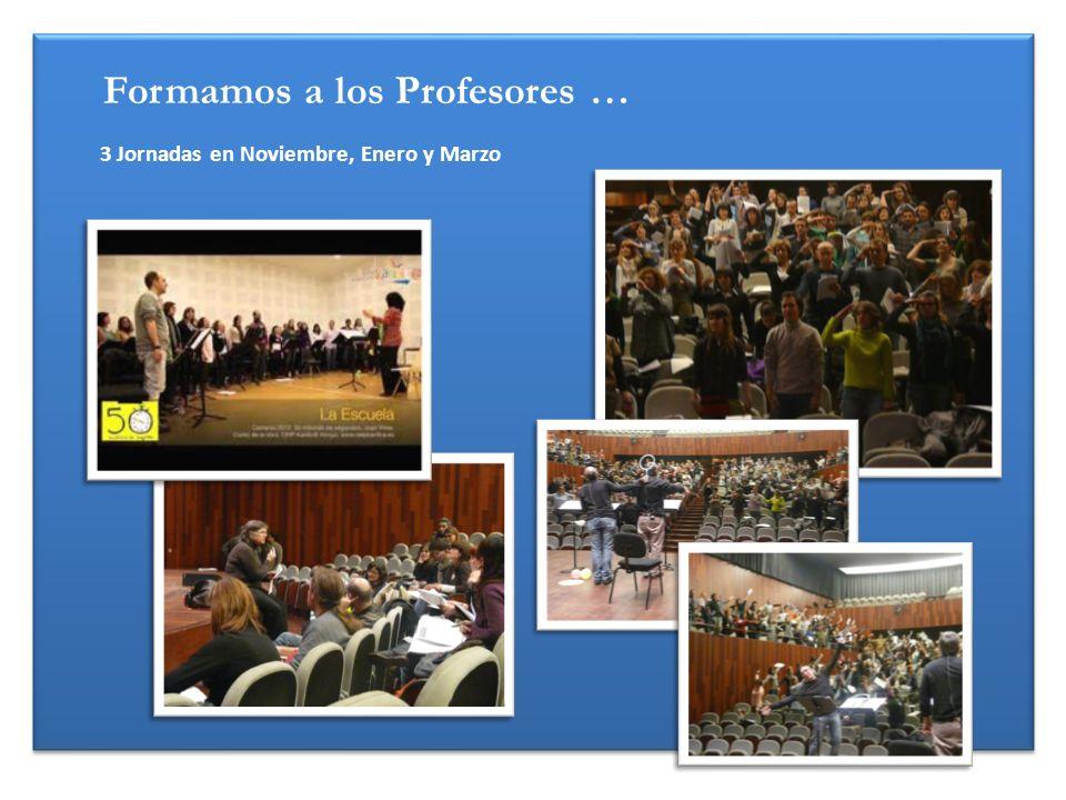 Formamos a los Profesores … 3 Jornadas en Noviembre, Enero y Marzo