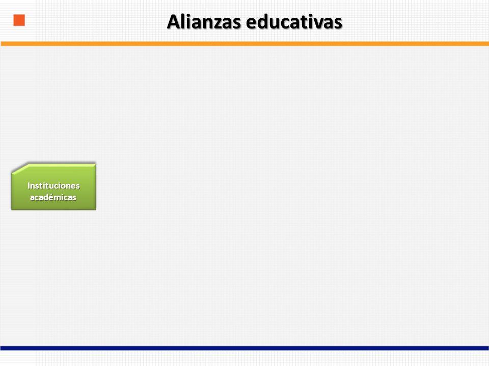 Instituciones académicas Alianzas educativas