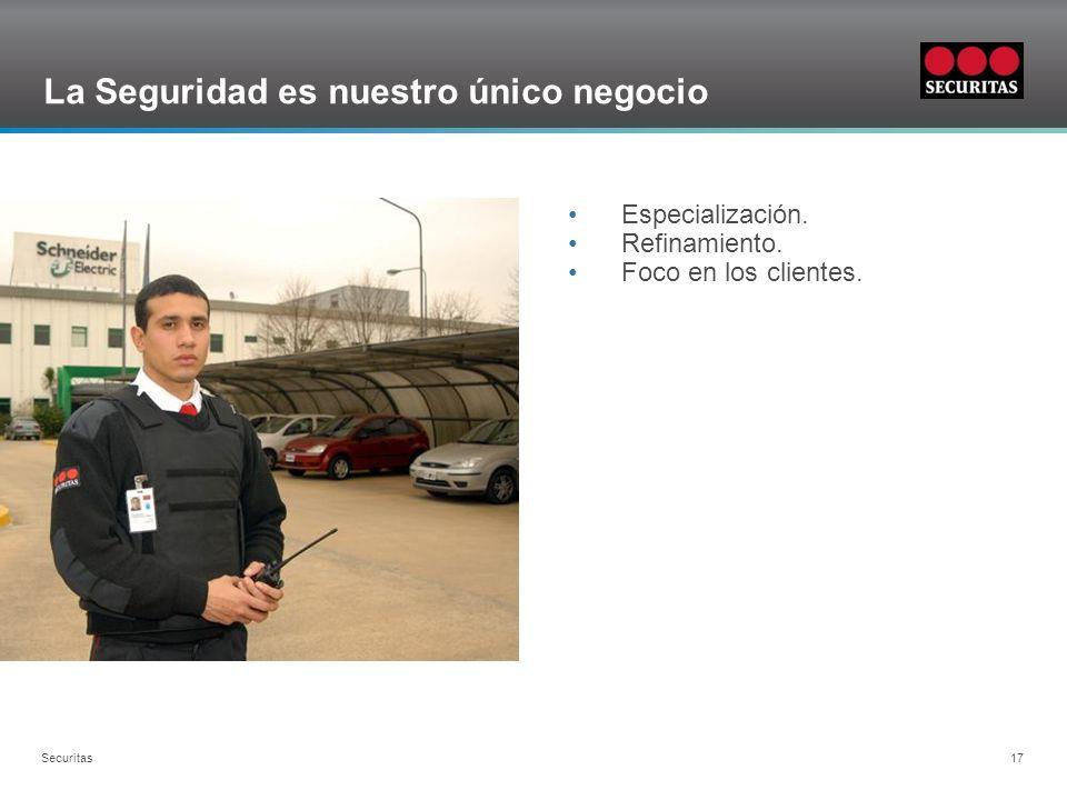 Grid Securitas 17 La Seguridad es nuestro único negocio Especialización. Refinamiento. Foco en los clientes.