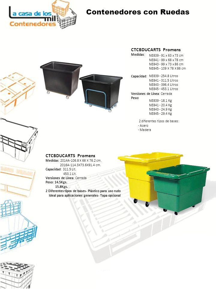 CTCBDUCARTS Promens Medidas: Capacidad: Versiones de Línea: Cerrada Peso: CTCBDUCARTS Promens Medidas: 2014A-106.8 X 66 X 76.2 cm.