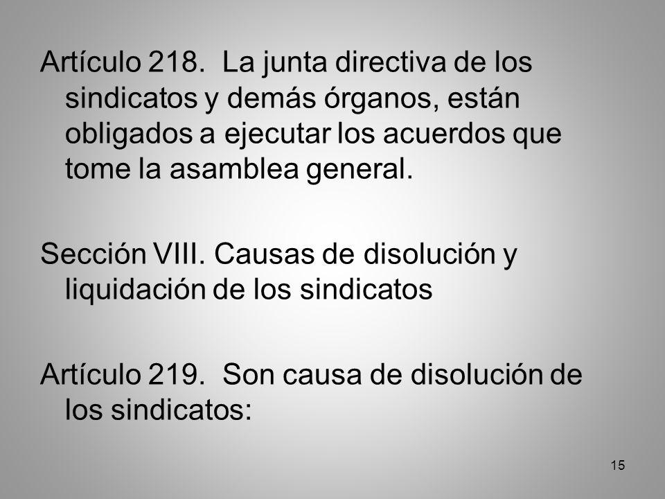 15 Artículo 218.